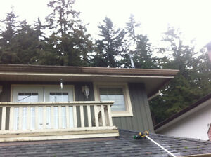 Gutter Scrubbing And Yard Clean Up! Cleaning W/O Chemicals North Shore Greater Vancouver Area image 2
