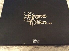 Gorgeous couture designer paloma draped midi dress