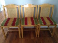 solid oak dining chairs with upholstered seat