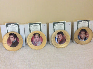 GOLD PLATED ELVIS PLATES