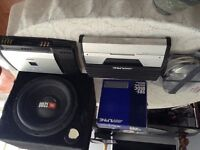 Truck sound system 725 firm Alpine mono and 4ch amp v12
