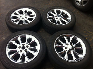 225/55/R17,Cheome Rims With All Season Tires For Sale