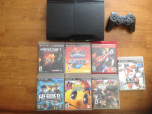 PS3 500GB with 1 controller and games