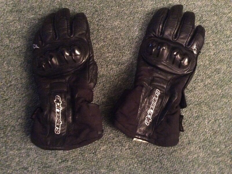 Leather Motorcycle Gloves - Alpinestars (size M)