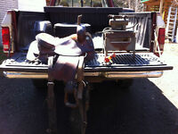 "16"" western saddle and propane forge for sale"