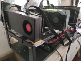 Gaming PC and mining rig 180 mhs all - 4 gpu - 3060 - Vega 64 -RX 480