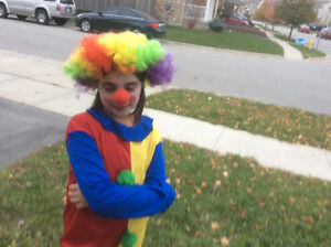 Joker costume with wig and nose Cambridge Kitchener Area image 1
