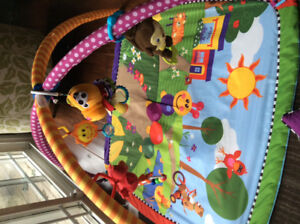 Colourful, interactive play mat