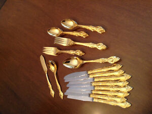 Gold-plated flatware for those special dinners