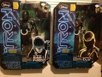 "Tron Legacy Sam and CLU 12"" figures"