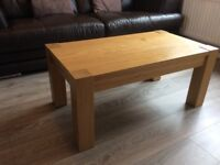 Solid heavy coffee table ikea hogsby chunky table