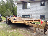Factory Trailer 6 ton double axle piddle hitch others on hand