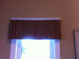 Drapes and wooden drapery rod