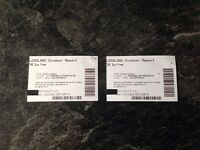 2x LEGOLAND TICKETS FRIDAY 1ST SEPTEMBER