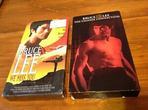 Set of Bruce Lee action movie VHS tape