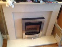 Marble (solid) Fireplace & Hearth