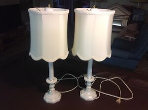porcelain lamps two of them $15 each