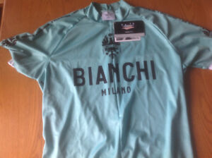 Bianchi 3 pocket cycle jersey