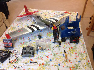 2.4 GHz NITRO P51 MUSTANG TRAINER WITH NACA DROOPS BY HANGAR 9