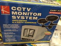 CCTV system with monitor + 2 Cameras