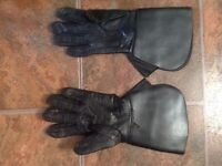 Ladies leather motorcycle gloves
