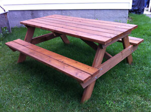 6 foot long pressure treated picnic tables