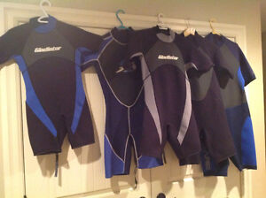 Water sports wet suits