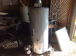 JWF307 oil fired hot water tank and burner
