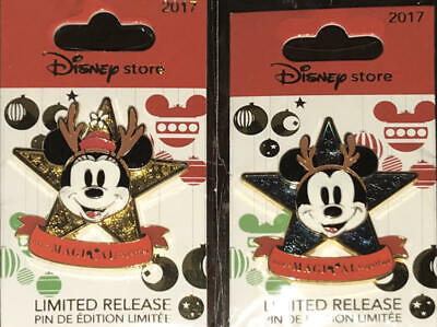 Disney Store  2017 Mickey & Minnie  More Magical Together Pin set 2  NEW