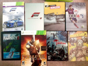 X-Box 360 Steelbooks - 10 and up