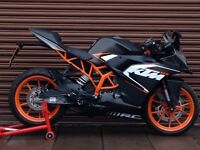 KTM RC 125 ABS 2016. Only 763miles. Delivery Available *Credit & Debit Cards Accepted*