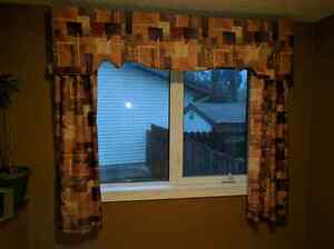 Vertical blinds and Drapes (window dressings / treatments)