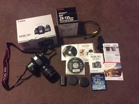 Canon 70D + Canon 28-135mm f/3.5-5.6 IS USM lens and Extras