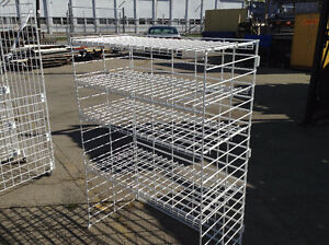 $675.00 WHITE WIRE SHELVING HEAVY DUTY FOR DISPLAY$675.00