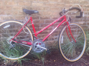 Red Raleigh Vintage Road Bike For Sale
