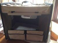 Dog folding crate
