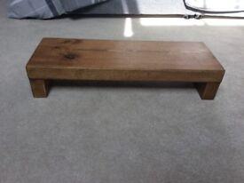 Rustic Handmade Oak Monitor/TV Stand