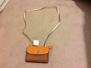 Coach wallet with crossbody strap