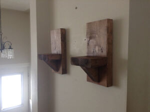 Rustic pair of wall sconces $20.00
