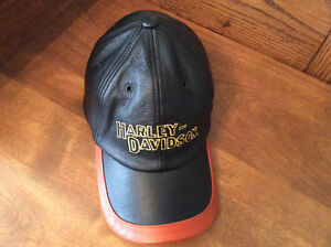 HARLEY DAVIDSON LEATHER BALL CAP