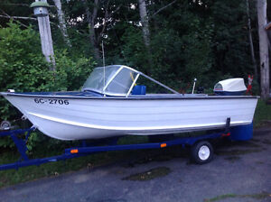 14' aluminum boat package for sale