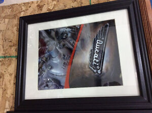 Motorcycle picture frames for sale