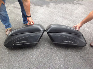 Sacoches rigides en cuir pour Road king