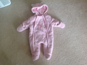 9 months girl snow suit