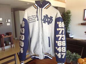 Veston Notre Dame Fighting Irish National Champions Jacket XL