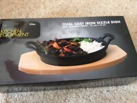 Cast iron sizzle dishes