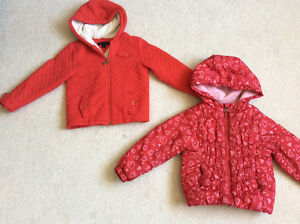 Two barely worn spring and fall jacket size 4 years both for $15