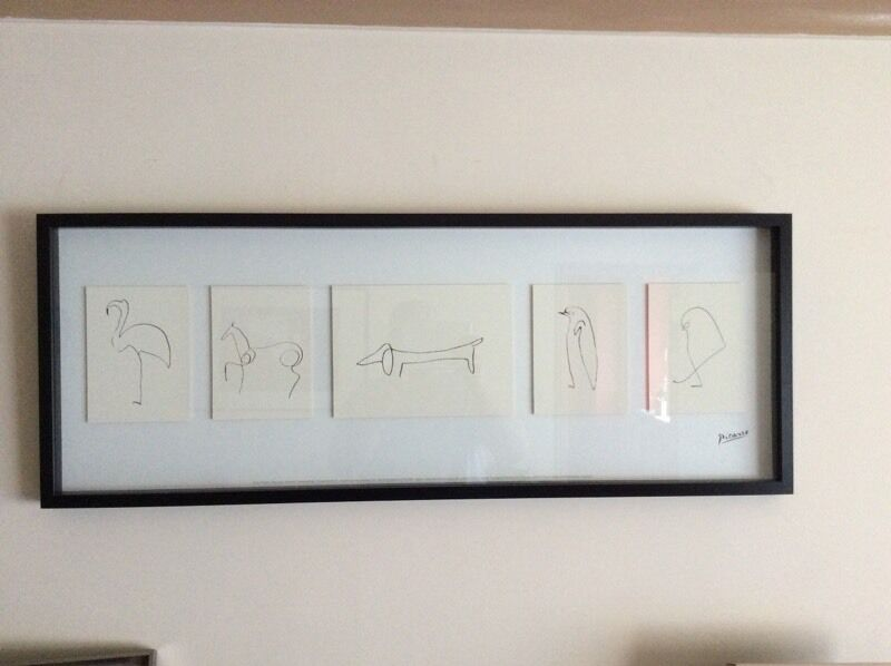 ikea picasso picture sketches frame in pontefract west yorkshire gumtree. Black Bedroom Furniture Sets. Home Design Ideas