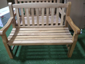 Heritage oak 2 seater bench with marks