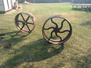 Antique Fly Wheels Off Steam Engines